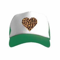 Детская кепка-тракер Heart with leopard hair