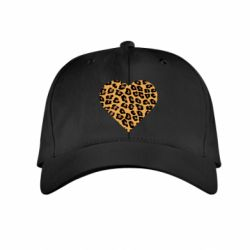 Детская кепка Heart with leopard hair