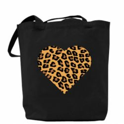 Сумка Heart with leopard hair