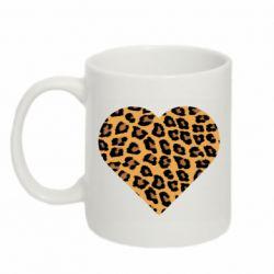 Кружка 320ml Heart with leopard hair