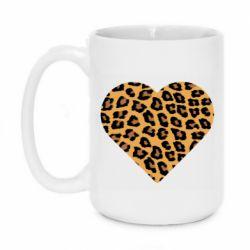 Кружка 420ml Heart with leopard hair