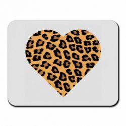Коврик для мыши Heart with leopard hair