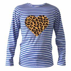 Тельняшка с длинным рукавом Heart with leopard hair
