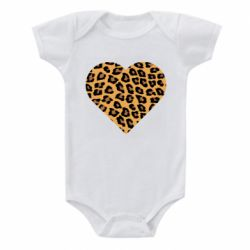 Детский бодик Heart with leopard hair
