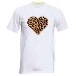 Мужская спортивная футболка Heart with leopard hair