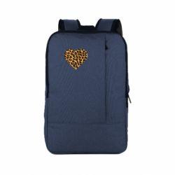Рюкзак для ноутбука Heart with leopard hair