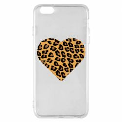 Чехол для iPhone 6 Plus/6S Plus Heart with leopard hair