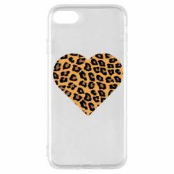 Чехол для iPhone 7 Heart with leopard hair