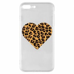 Чехол для iPhone 7 Plus Heart with leopard hair