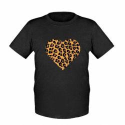 Детская футболка Heart with leopard hair