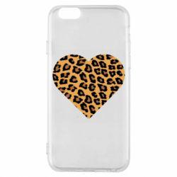 Чехол для iPhone 6/6S Heart with leopard hair