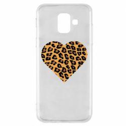 Чехол для Samsung A6 2018 Heart with leopard hair