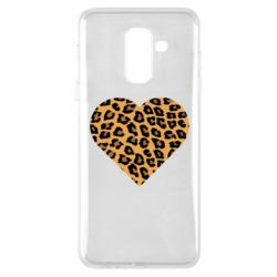 Чехол для Samsung A6+ 2018 Heart with leopard hair