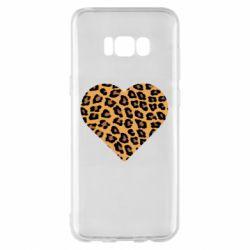 Чехол для Samsung S8+ Heart with leopard hair