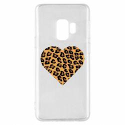 Чехол для Samsung S9 Heart with leopard hair