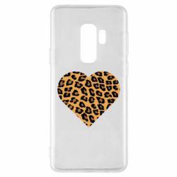 Чехол для Samsung S9+ Heart with leopard hair
