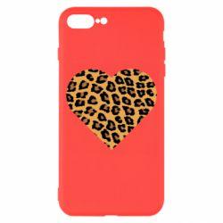 Чехол для iPhone 8 Plus Heart with leopard hair