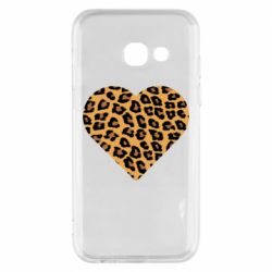 Чехол для Samsung A3 2017 Heart with leopard hair