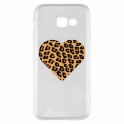 Чехол для Samsung A5 2017 Heart with leopard hair