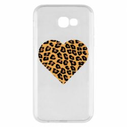 Чехол для Samsung A7 2017 Heart with leopard hair