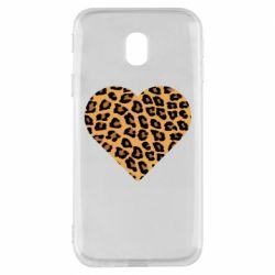 Чехол для Samsung J3 2017 Heart with leopard hair