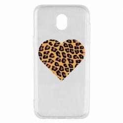Чехол для Samsung J5 2017 Heart with leopard hair