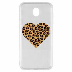 Чехол для Samsung J7 2017 Heart with leopard hair
