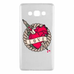Чехол для Samsung A7 2015 Heart with sword