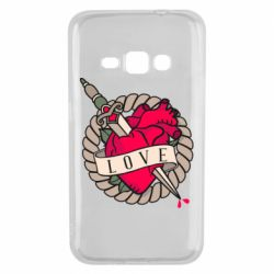 Чехол для Samsung J1 2016 Heart with sword