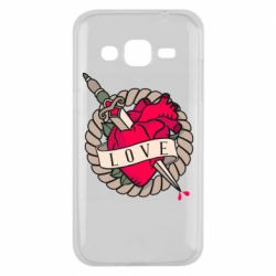 Чехол для Samsung J2 2015 Heart with sword
