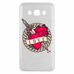 Чехол для Samsung J5 2016 Heart with sword