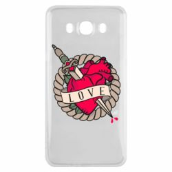 Чехол для Samsung J7 2016 Heart with sword
