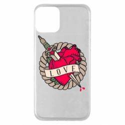 Чехол для iPhone 11 Heart with sword