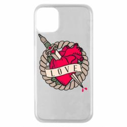 Чехол для iPhone 11 Pro Heart with sword