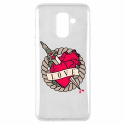 Чехол для Samsung A6+ 2018 Heart with sword
