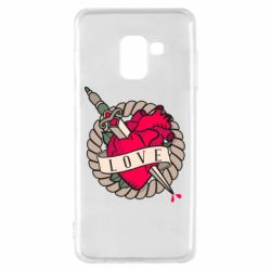 Чехол для Samsung A8 2018 Heart with sword
