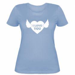 Жіноча футболка Heart with wings