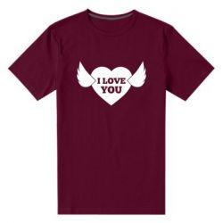 Чоловіча стрейчева футболка Heart with wings