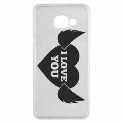 Чохол для Samsung A3 2016 Heart with wings