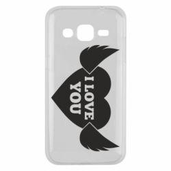 Чохол для Samsung J2 2015 Heart with wings
