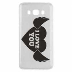 Чохол для Samsung J5 2016 Heart with wings