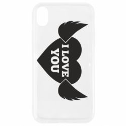 Чохол для iPhone XR Heart with wings