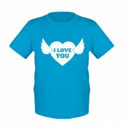 Дитяча футболка Heart with wings