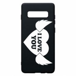 Чохол для Samsung S10+ Heart with wings