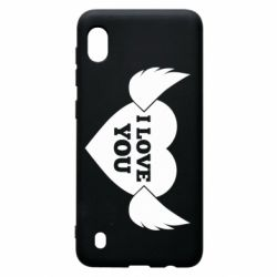 Чохол для Samsung A10 Heart with wings