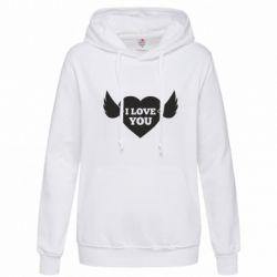 Толстовка жіноча Heart with wings