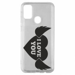 Чохол для Samsung M30s Heart with wings