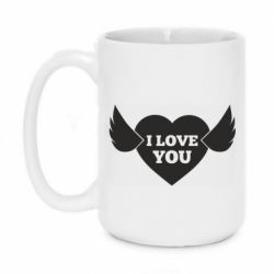 Кружка 420ml Heart with wings