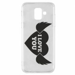 Чохол для Samsung A6 2018 Heart with wings