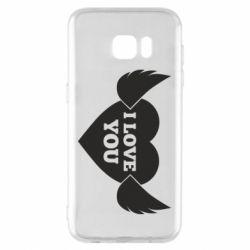 Чохол для Samsung S7 EDGE Heart with wings